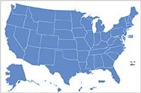 Judicial salaries map image