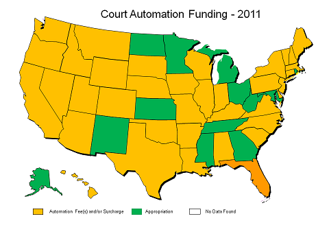 Court auto Fees 2011 Map