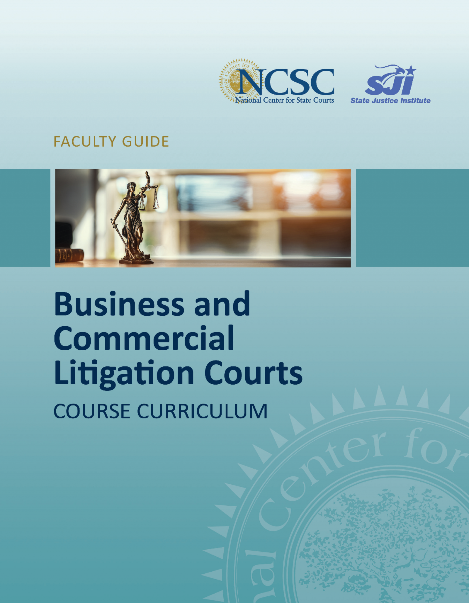 Business and Commercial Litigation Courts Training Curriculum banner image