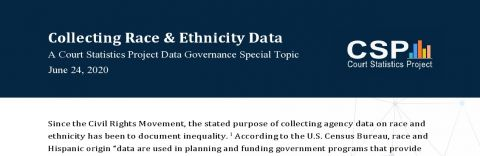 Collecting race & ethnicity data in courts