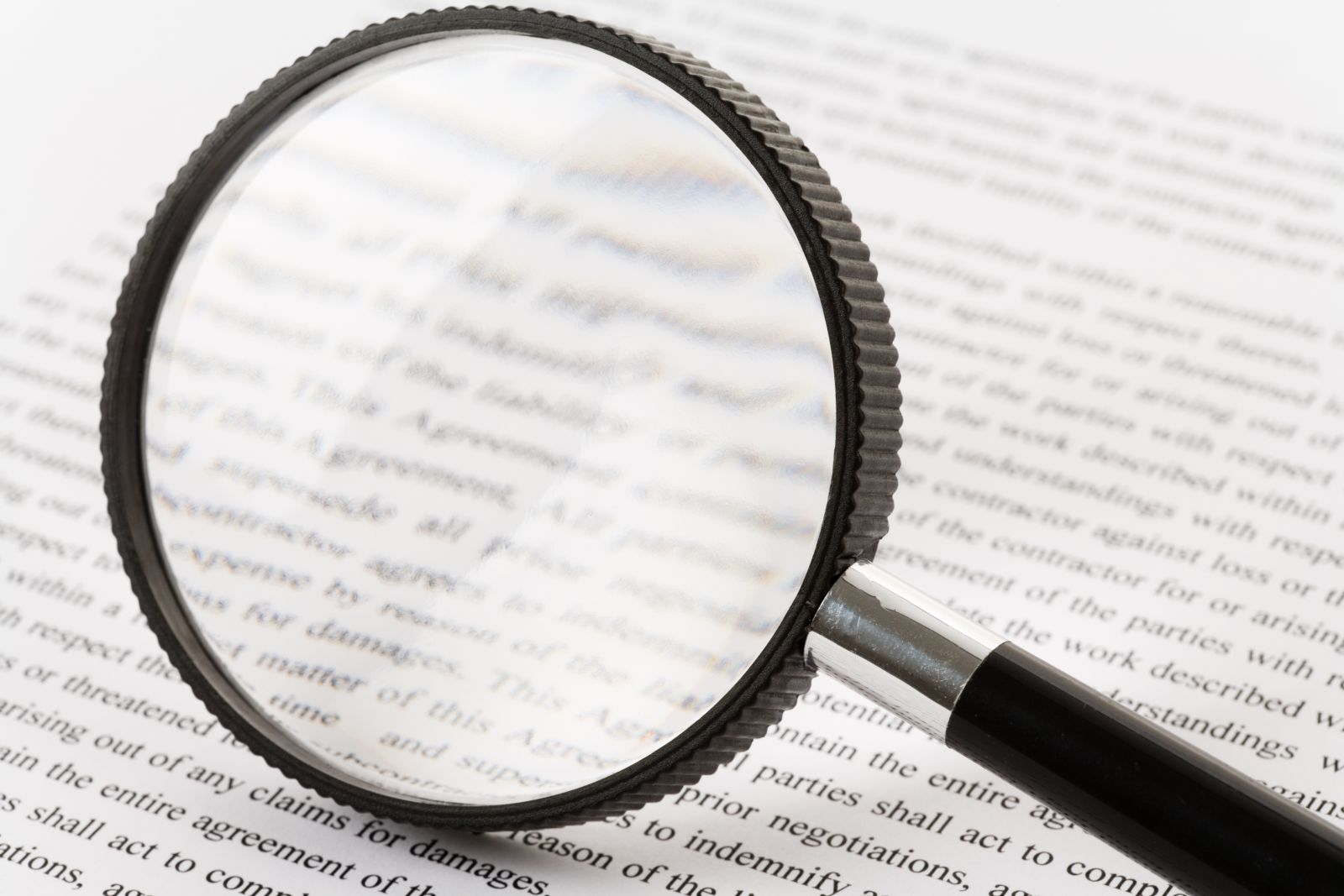 Magnifying Glass and Words banner image