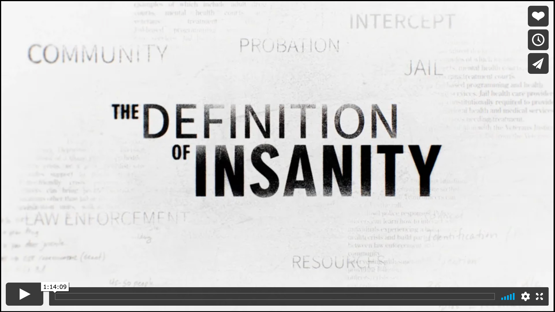 Image from documentary film The Definition of Insanity