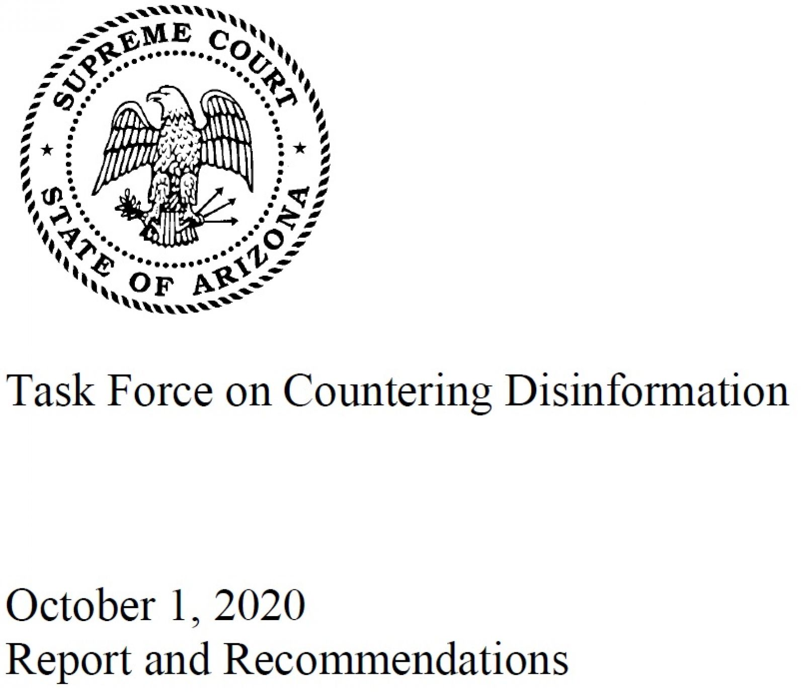 Task Force on Countering Disinformation Report Cover banner image