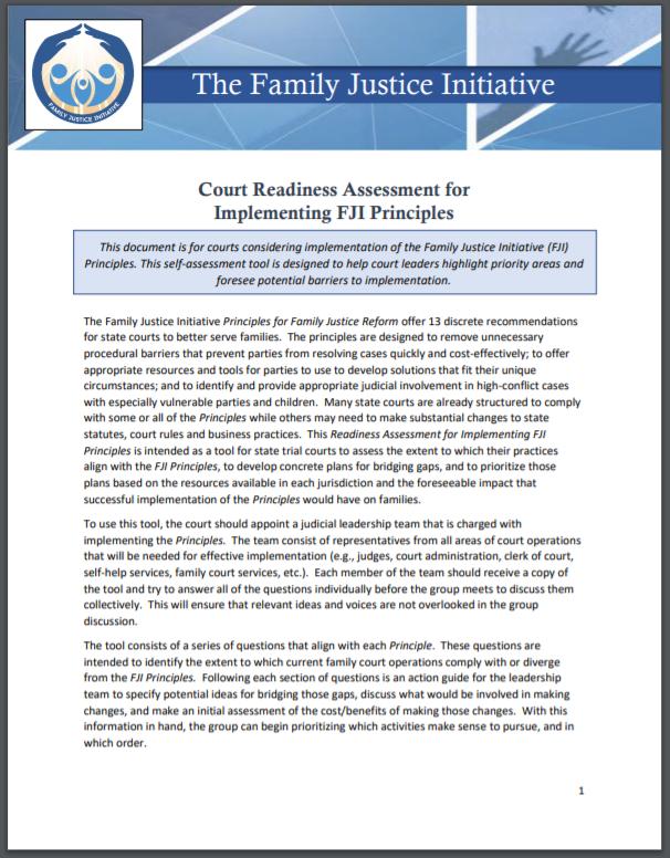 FJI Readiness Assessment Capture