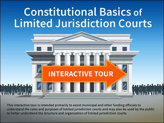 Image for tour of LImited Jurisdiction Courts tour