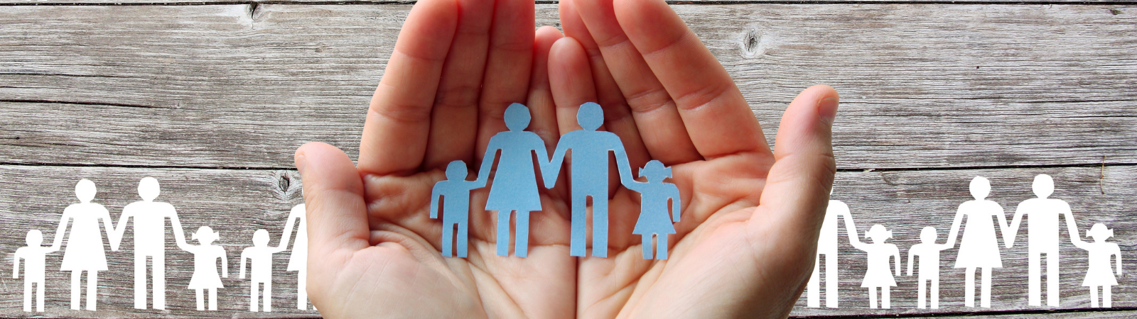 family hands banner image