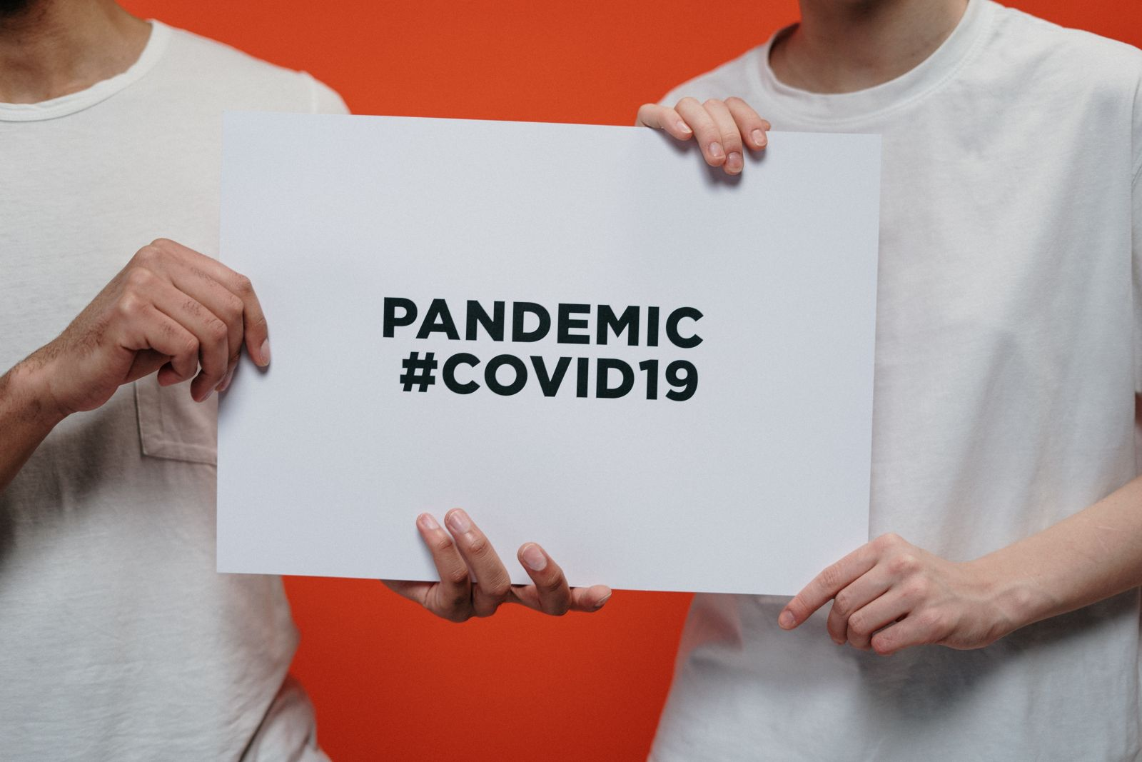 Pandemic Covid sign banner image